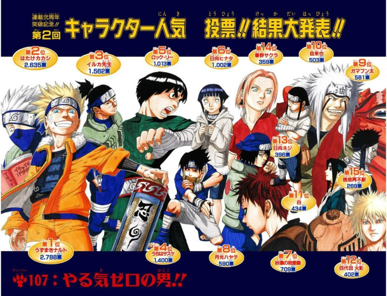 Naruto Chapter 107 Cover Image