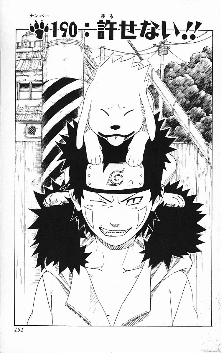Naruto Chapter 190 Cover Image