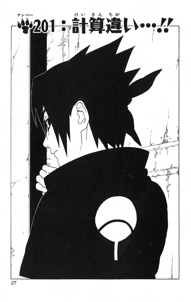 Naruto Chapter 201 Cover Image