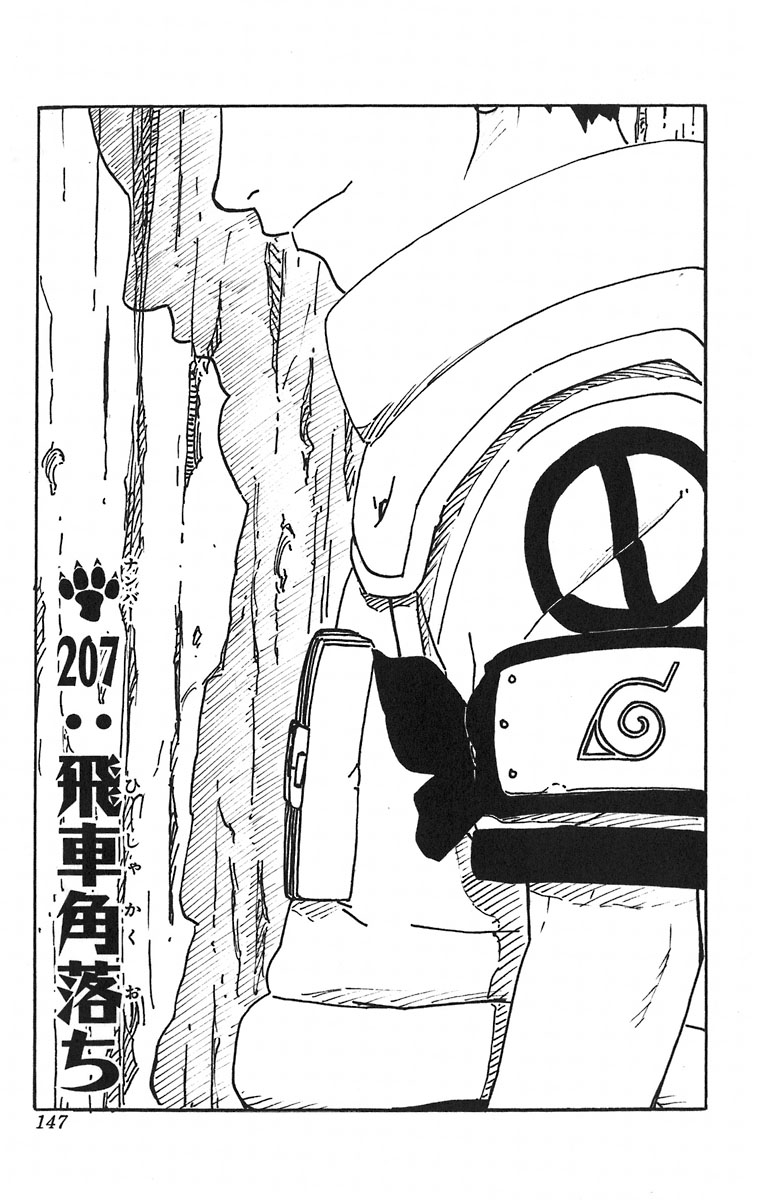 Naruto Chapter 207 Cover Image
