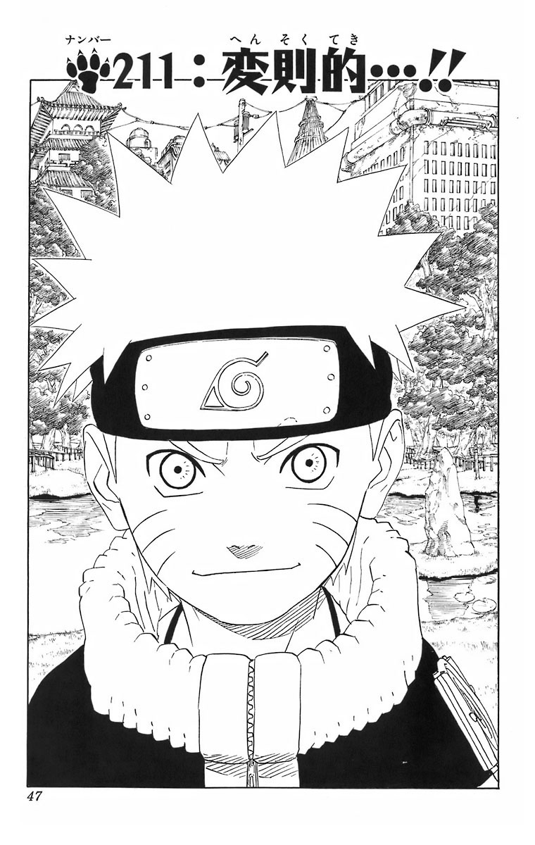 Naruto Chapter 211 Cover Image