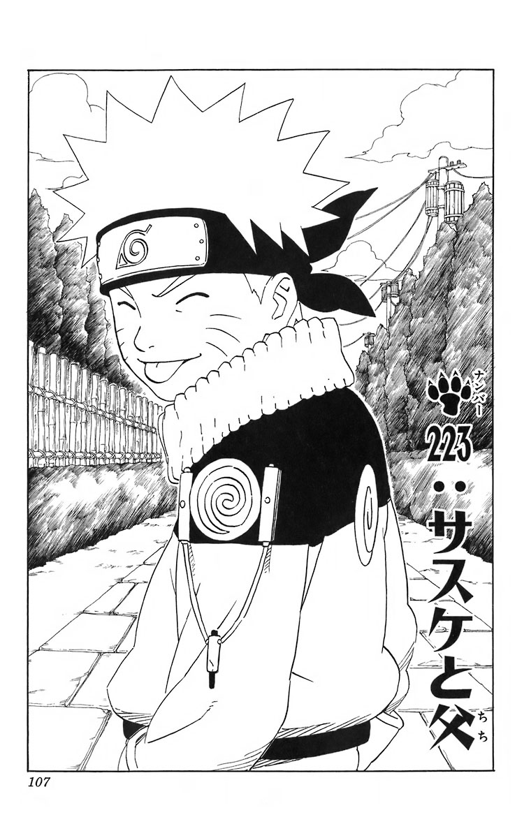Naruto Chapter 223 Cover Image