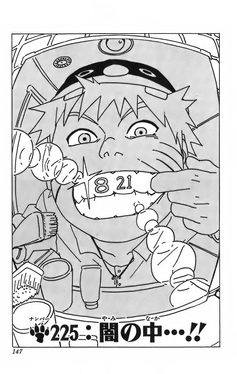 Naruto Chapter 225 Cover Image