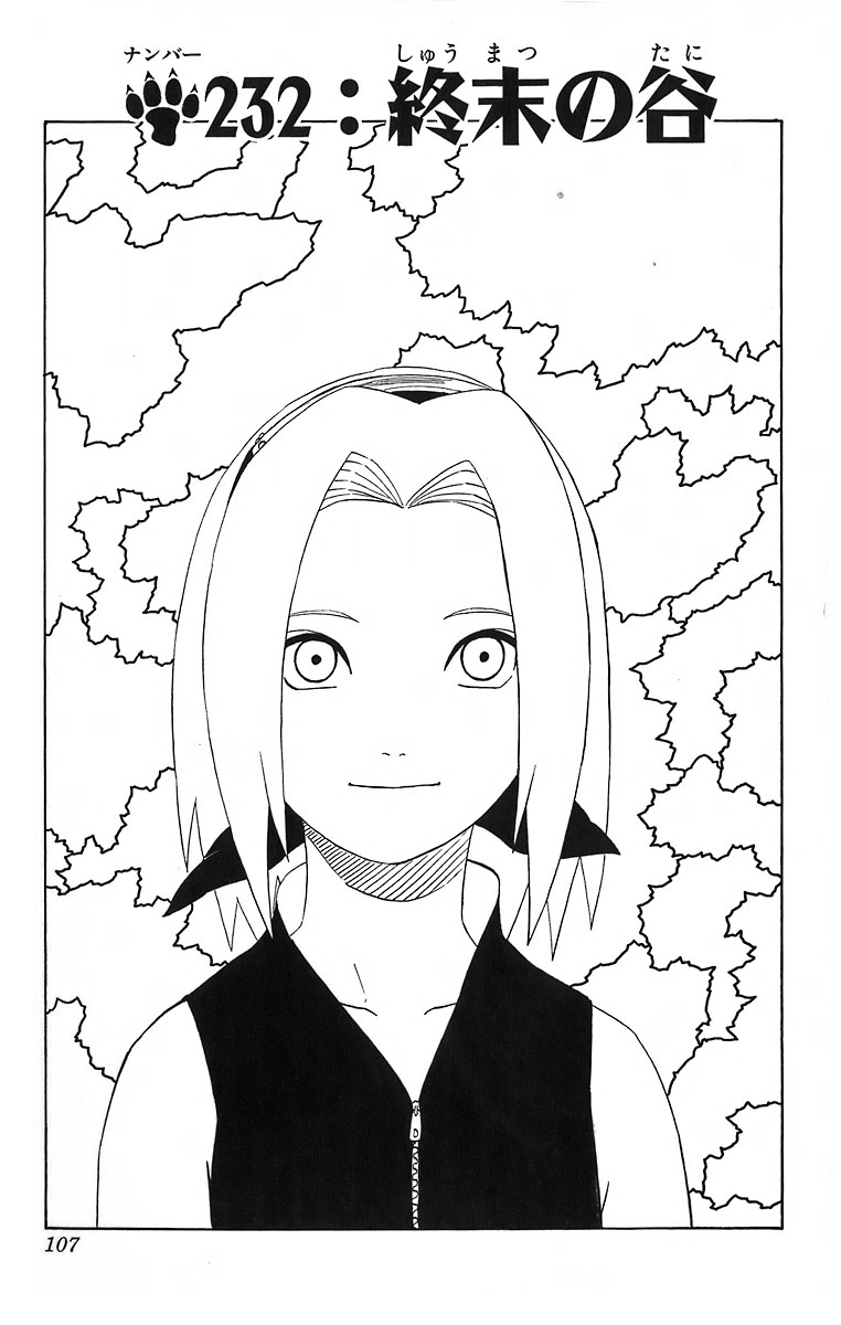 Naruto Chapter 232 Cover Image