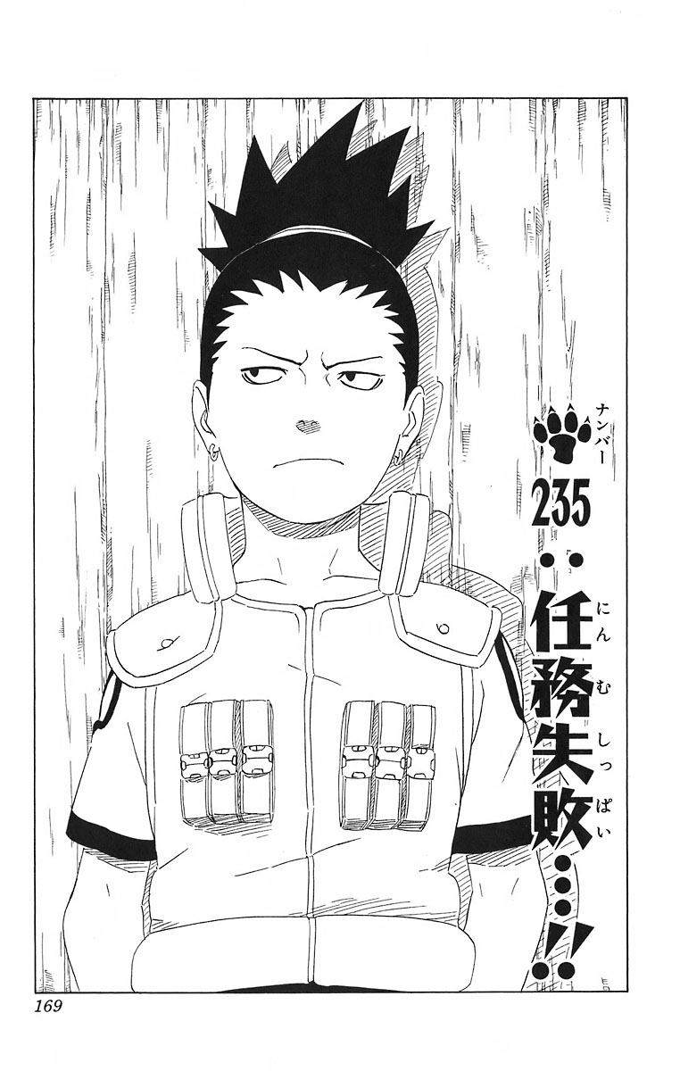 Naruto Chapter 235 Cover Image