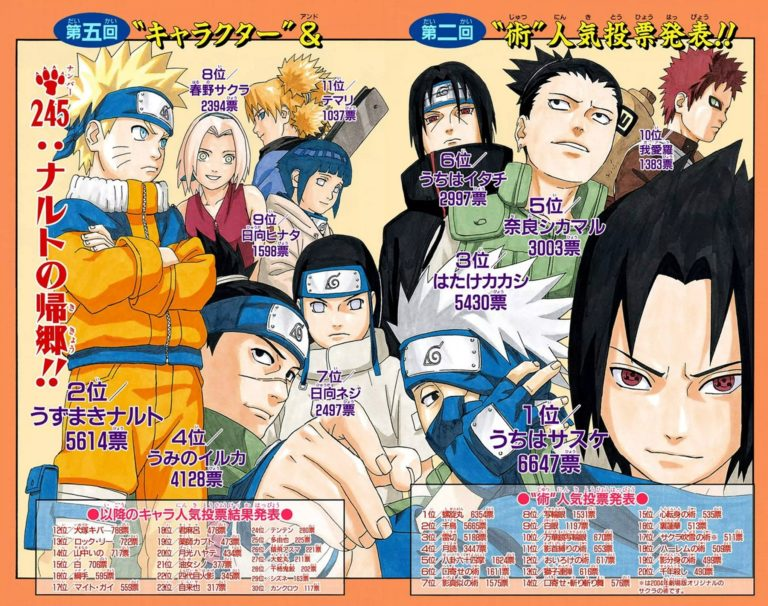 Naruto Chapter 245 Cover Image