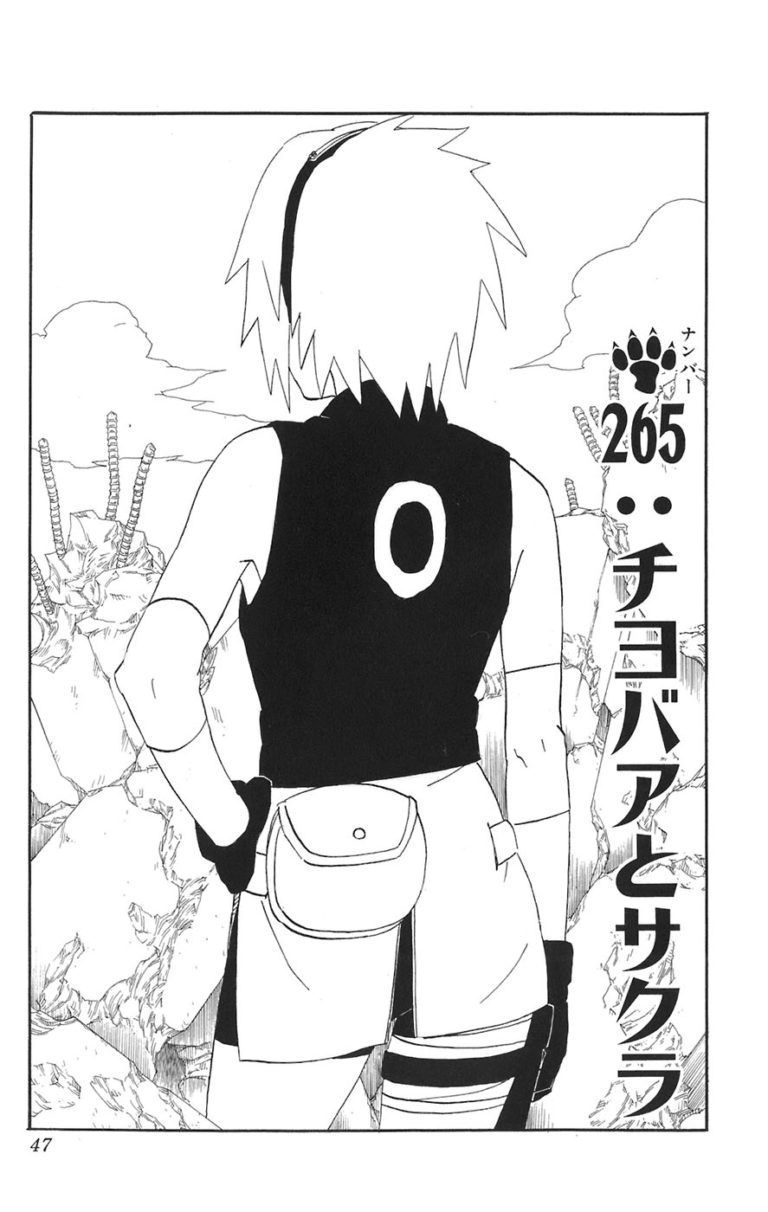 Naruto Chapter 265 Cover Image