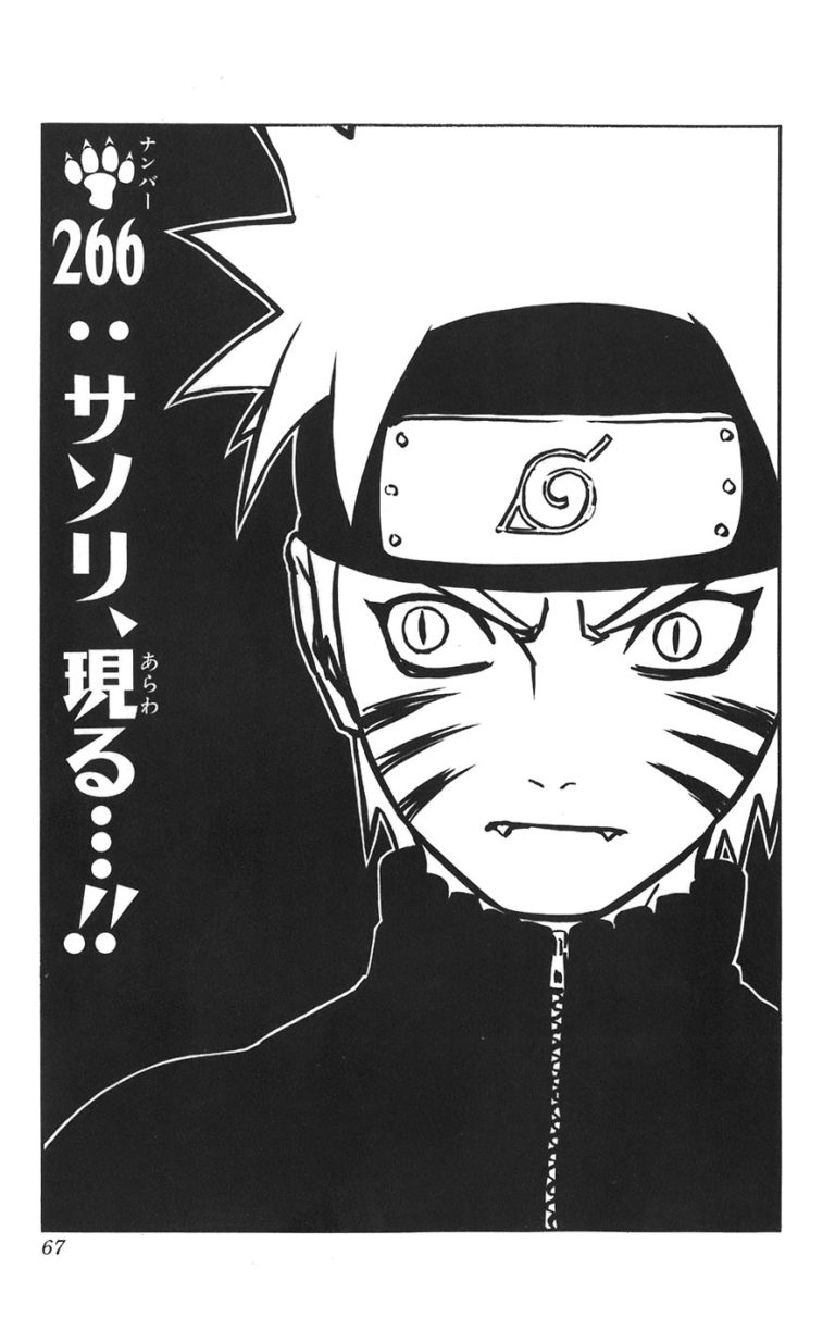 Naruto Chapter 266 Cover Image