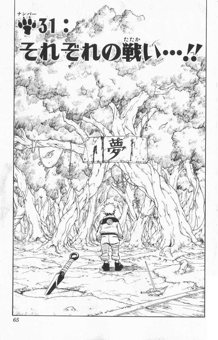 Naruto Chapter 31 Cover Image