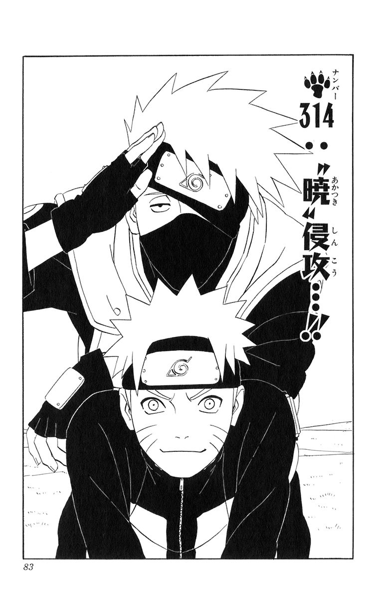 Naruto Chapter 314 Cover Image
