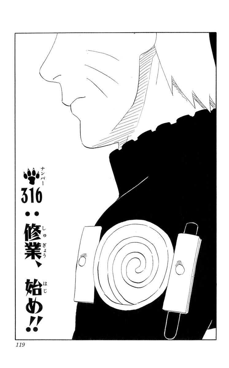 Naruto Chapter 316 Cover Image