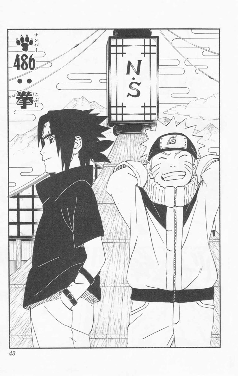 Naruto Chapter 486 Cover Image